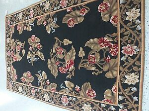 "6'0""x9'0"" Handmade Chinese Cut and Loop Wool Rug"