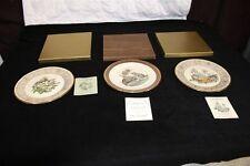 Lenox Boehm Birds Golden Kinglets Wood Thrush Racoons 1970, 73, 79 Certificates