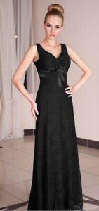 Formal Long Ladies Wedding Prom Full Length Party Evening Maxi Dress UK Size 20