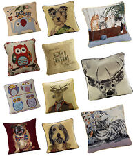 Tapestry Animal Cushion Covers - Rope Trimmed - Free Delivery