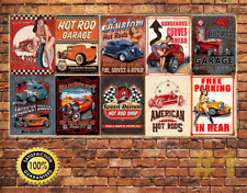 JOB LOT 10 X Métal Tin Signe Plaque murale vintage garage HOT ROD collection #1