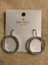 Kate Spade Crystal Silver Hoop Earrings