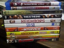 (10) Seth Rogen DVD Lot: Night Before  Neighbors  50/50  The Interview  Superbad