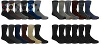 6 Pairs Men's Dress Socks Assorted Design Argyle Print Solid Plain - YOU CHOOSE!