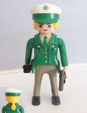 PLAYMOBIL (K2136) POLICE - Femme Officier Tenue Verte Voiture de Patrouille 3903