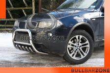 BMW X3 2002-2005 PARE-BUFFLE BAS AVEC GRILLE DE PROTECTION CARTER EN INOX