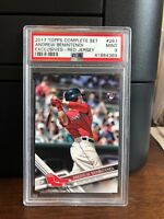 2017 Topps Andrew Benintendi Red Jersey Red Sox Rookie Card #283 PSA 9 Mint