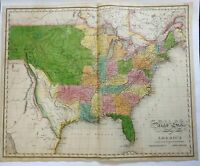 United States Republic 1820 Melish Carey Missouri & Northwest Territories map