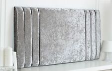 RIO II CRUSHED VELVET HEADBOARD CHOOSE YOUR SIZE + COLOUR + FREE P & P!!!