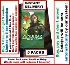MTG Arena Code: 5 Promo Pack Booster (5 CODES). Zendikar Rising INSTANT EMAIL
