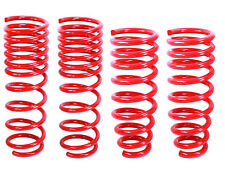"""RED Lowering Springs fit Honda 08-12 Accord 4cyl & V6 All 1.7"""" Drop"""