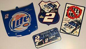 Rusty Wallace Miller Lite Racing License Plate, Mini Car Hood & Road Signs -1242