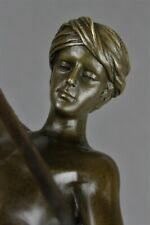 David après le combat bronze sculpture d'apres Marius Jean Antonin Mercie