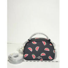 Coach 1594 Serena Satchel With Watermelon Print Navy Red Multi