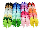 40 infant Baby Girl Toddler Hair Bows Alligator Clip Grosgrain Ribbon Headband