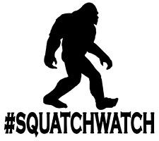 SQUATCHWATCH-  5 INCH VINYL DECAL WINDOW LAPTOP CAR BUMPER STICKER