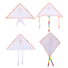 diy painting kite foldable outdoor beach kite children kids sport funny toy~OL