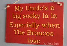 Brisbane Broncos Sooky Uncle Retro Footy Sign - Jersey Cards Shorts Etc