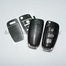2A_Schlüssel-Dekor Aufkleber für Audi A1 A3 A4 A6 TT Q7 schwarz alu gebürstet