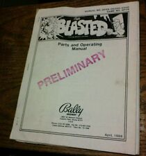Bally/Midway Blasted Arcade Video Game Manual- rare w/ Schematics Preliminary