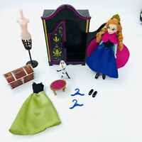 Rare Anna Frozen Disney Wardrobe Clothes Playset & Mini Figure Bundle Free P&P