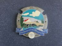 Vintage German Automobile Club Porcelain Enamel Metal Car Grille Badge Sign 389