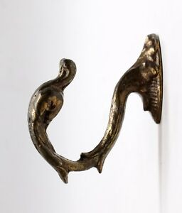 Salvaged Waldorf Bronze Swan Curtain Tie Back Hook