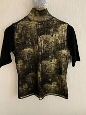 Trussardi  wool gold metalic top, size M best fit for size 8