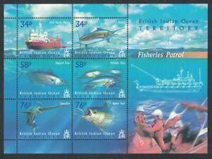 BIOT Marlin Tuna Swordfish Fisheries Patrol Sheetlet of 6v 2004 MNH SG#MS295