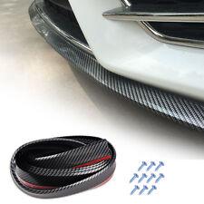 "100"" Car Carbon Front Bumper Spoiler Lip Skirt  Protector Rubber Splitter Guard"