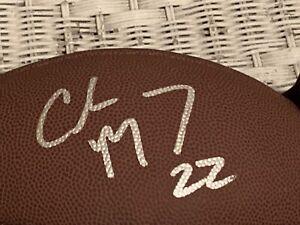 christian mccaffrey autographed football