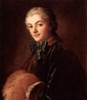 Nice Oil painting francois boucher Female Portrait of a Lady with Muff canvas