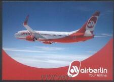 AK Postcard Airberlin Boeing 737 Aviation Aircraft Plane Luftfahrt Flugzeuge s22