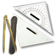 2 STÜCK ----- Navigationsset - Zirkel & 2 Dreiecke # Navigation Kursdreieck Boot