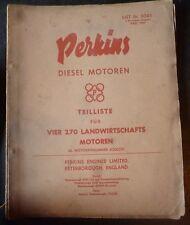 Perkins Vier 270 Dieselmotor Ersatzteilliste