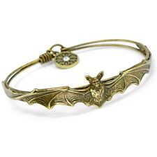 NEW SWEET ROMANCE ART NOUVEAU STYLE BAT BANGLE BRACELET BRONZE FINISH