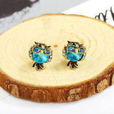 Crystal Owl Jewelry Brand Stud Earrings For Women Vintage Animal Ear Stud Gift