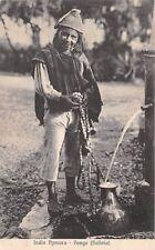 PONGO, BOLIVIA ~ AYMARA INDIAN BOY COLLECTING WATER AT PUMP ~ c 1904-14