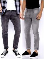 Boy's New Ex C&A Sand Wash Charcoal Grey Rivet Jeans Teenage Cotton Trouser.