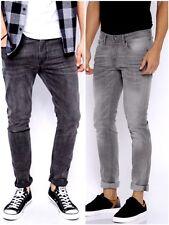 Boy's New Ex C&A Sand Wash Charcoal Grey Rivet Jeans Teenage Cotton Trouser.