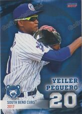 2017 South Bend Cubs Yeiler Peguero RC Rookie Chicago