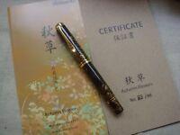 "Pelikan ""慎""M1000 Limited Edition 加賀研出高蒔绘 Maki-e Autumn Flowers 秋草 Fountain Pen"