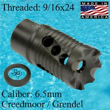 9/16x24 XV Muzzle Brake Premium Performance +Crush washer 6.5 Creedmor Grendel