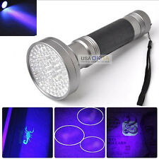 100 LED UV Ultra Violet Flashlight Blacklight Scorpion Detection Outdoor Torch