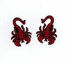 Red Scorpions Biker Muay Thai Champion Kickboxing Car Motorcycle Stickers Decal