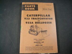 CAT Caterpillar 933 933A Traxcavator Bulldozer Parts Manual Book 42A5918-Up 41D1