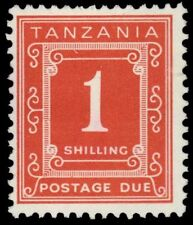 """TANZANIA J6a (SG D6) - Numeral of Value """"Postage Due"""" 1967 Printing (pf1857)"""