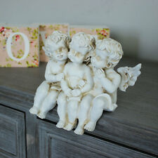 crema resina cherubino stile vintage ornamento casa angelo idea donne decapé
