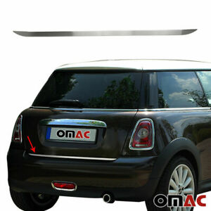 Brushed Chrome Rear Trunk Trim Protector S. Steel For Mini Cooper R56 2006-2013