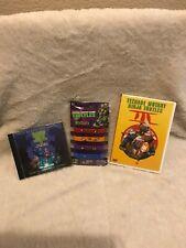 Vintage Teenage Mutant Ninja Turtles III DVD TMNT II CD New 4 Pc Bracelet Set